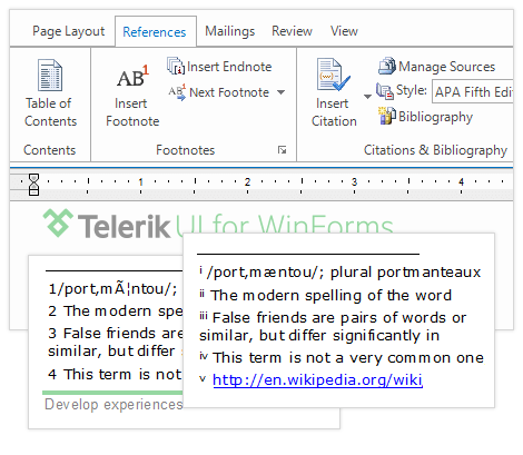 UI for WinForms RichTextEditor References