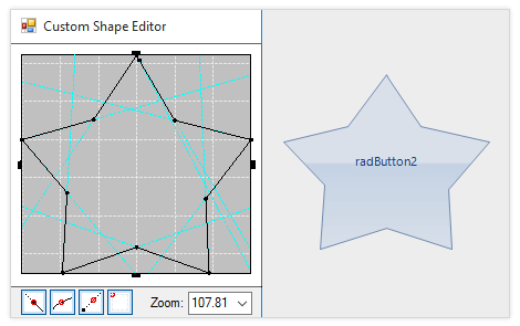 UI for WinForms Shape Editor