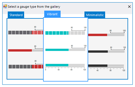 UI for WinForms LinearGauge Styles