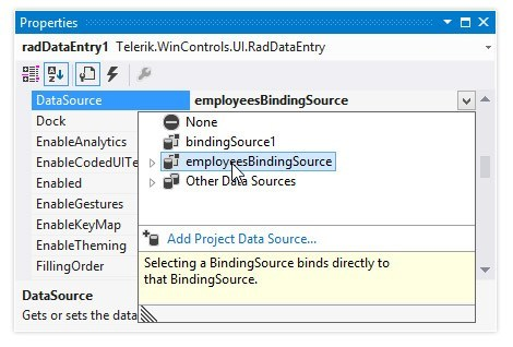 DataEntry Control - Telerik UI for WinForms Components - Telerik