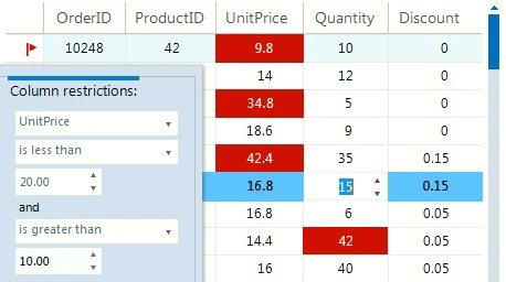 Insert edit validate data - WinForms Gridview