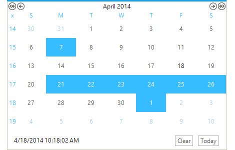 Calendar Control - Telerik UI for WinForms Components - Telerik