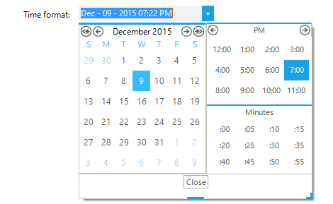 UI for WinForms DateTimePicker Timepicker
