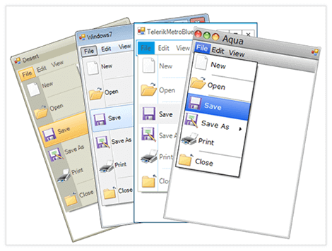 UI for WinForms Menu Appearance