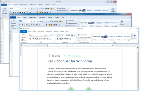 UI for WinForms RibbonBar Appearance