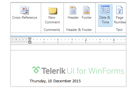 UI for WinForms RichTextEditor Fields Document Variables