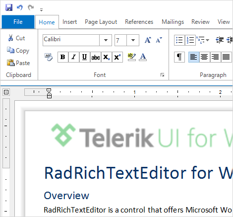 UI for WinForms RichTextEditor FirstLook