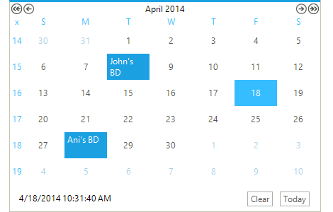 Calendar Control Telerik Ui For Winforms Components Telerik