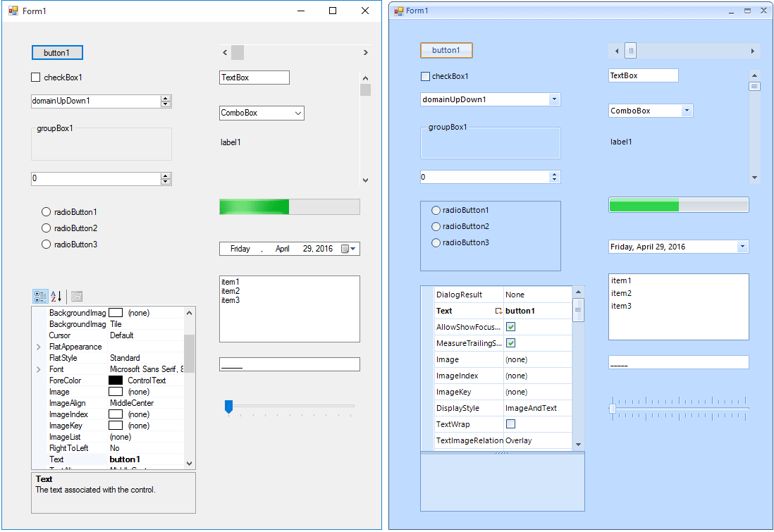 Telerik UI for WinForms Converter Tool Controls image