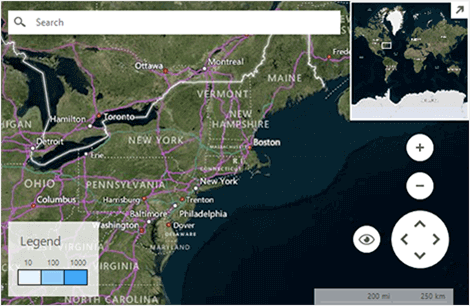 Telerik UI for WinForms Map UI Elements image