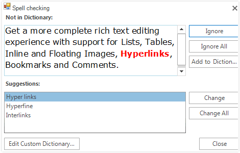WinForms RichTextEditor Export
