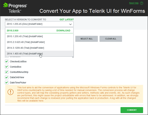 Comprehensive UI toolbox of 130+ controls - Telerik UI for WinForms