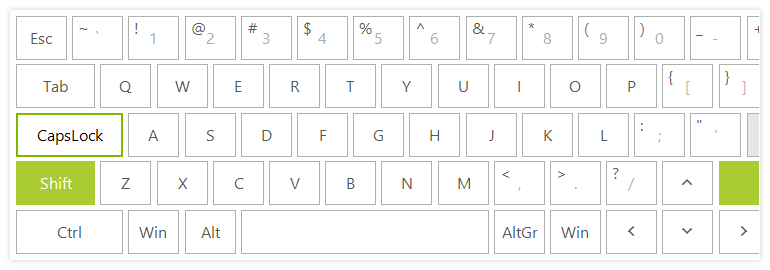 Telerik UI for WinForms Virtual Keyboard Control