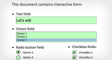 Telerik UI for WPF PDFViewer Forms Editing Filling Image