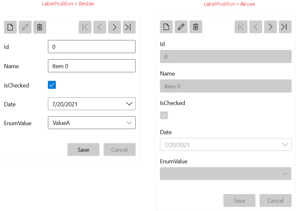 Telerik WinUI DataForm UI Customization Example Header Image