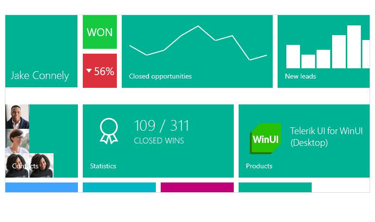 Telerik UI for WinUI HubTile Component