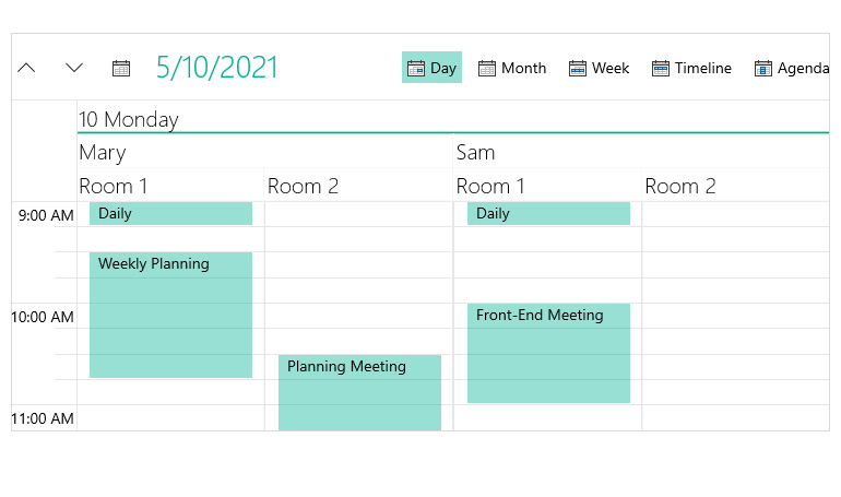Telerik UI for WinUI Scheduler Component