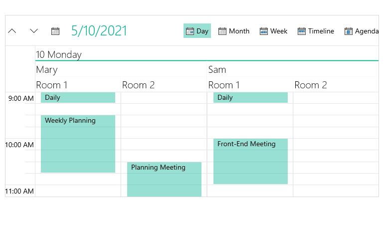WinUI_Scheduler