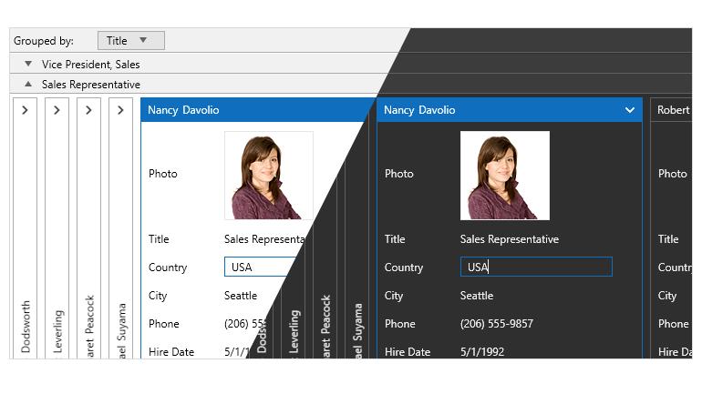 Telerik UI for WPF - CardView control