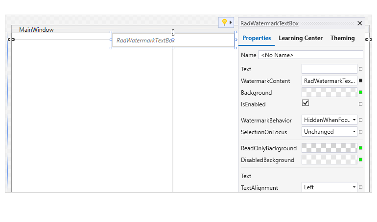 Support for suggested actions in WPF Design Time