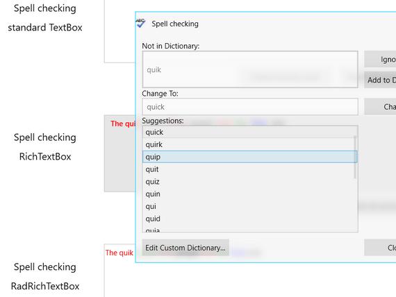 Telerik UI for WPF SpellChecker