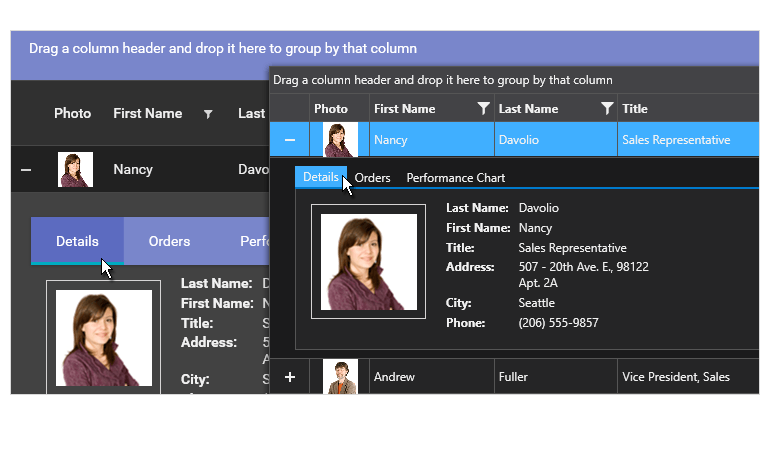Telerik UI for WPF - Material and Visual Studio 2019 Dark themes support