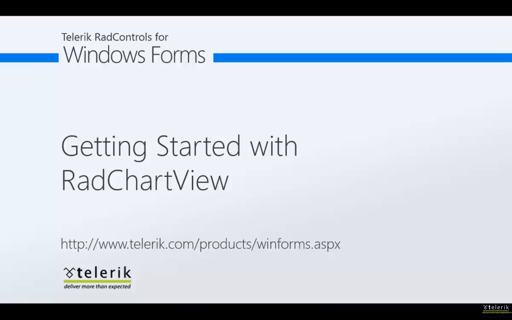 Getting Started with RadChartView for WinForms