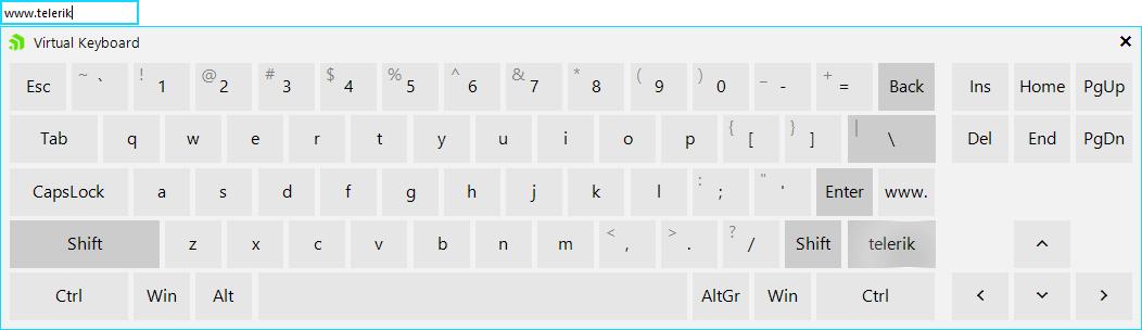 Add custom keys